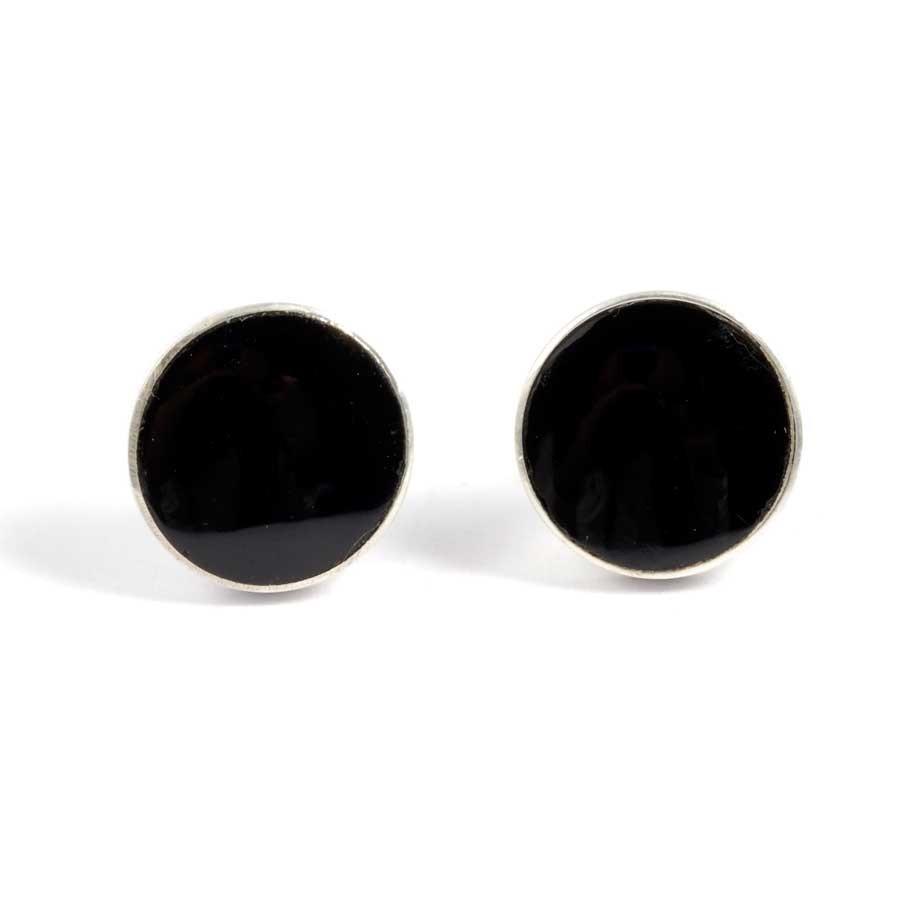 Puces d'oreilles argent et pierre - BOUCLES ARGENT CORAIL & NACRE - Boutique Nirvana