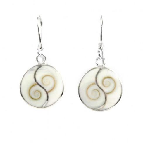 Boucles Yin Yang oeil de Shiva et argent - Sainte Lucie - Boutique Nirvana