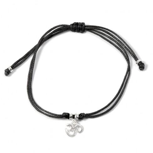Bracelet cordon pendentif argent - BRACELETS ARGENT - Boutique Nirvana
