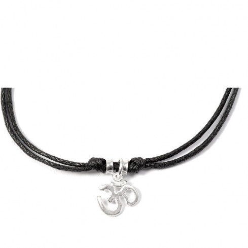Bracelet cordon pendentif argent - Silver Bracelets - Boutique Nirvana