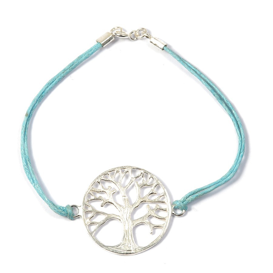 Bracelet cordon médaillon arbre de vie - Tree of Life - Boutique Nirvana