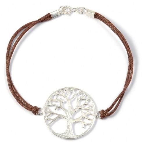 Bracelet cordon médaillon arbre de vie - Tree of Life - Boutique Nirvana