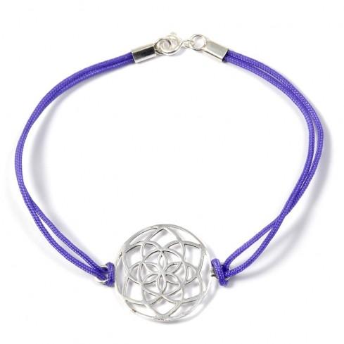 Bracelet cordon fleur de vie en argent - Silver Bracelets - Boutique Nirvana