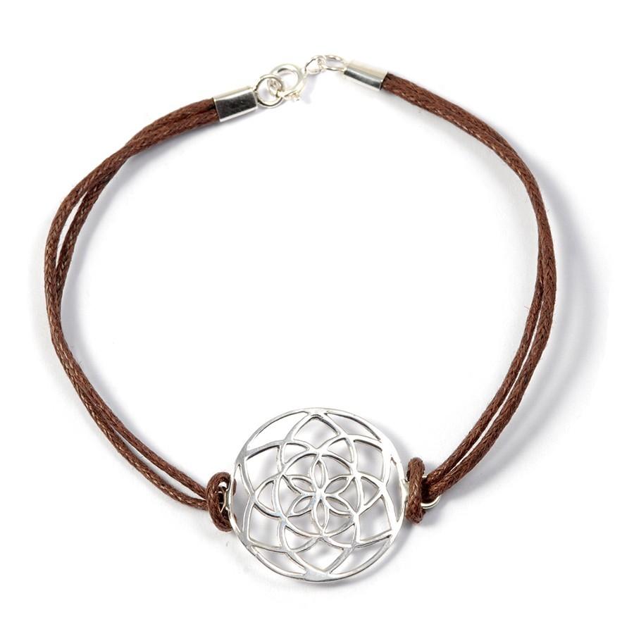 Bracelet fleur de vie en argent - BRACELETS ARGENT - Boutique Nirvana