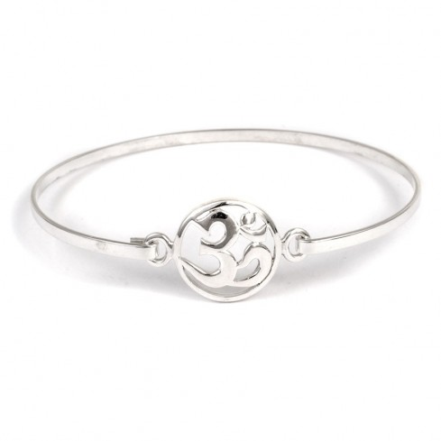 Bracelet argent symbole Om - Home - Boutique Nirvana