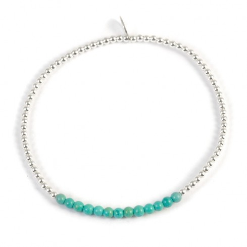 Bracelet perles argent et pierres fines - BRACELETS ARGENT - Boutique Nirvana