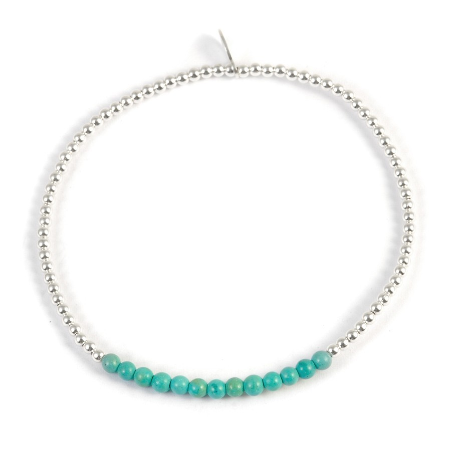 Bracelet perles argent et pierres fines - Silver Bracelets - Boutique Nirvana