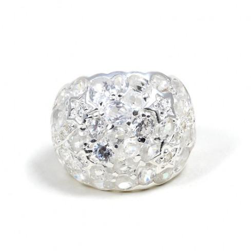 Bague Argent et zirconium Star -  Zirconium - Boutique Nirvana