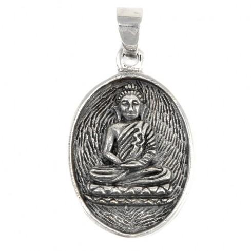 Médaillon Bouddha en argent