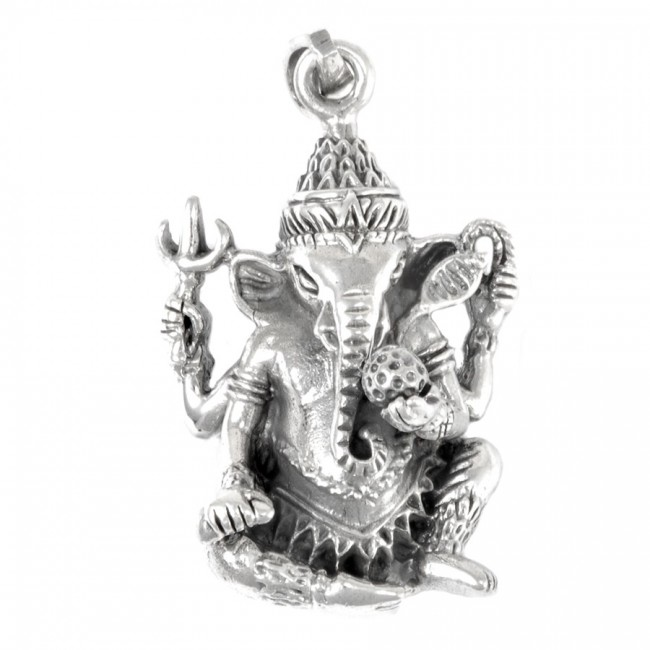 Pendentif en argent Ganesha - SILVER PENDANT - Boutique Nirvana