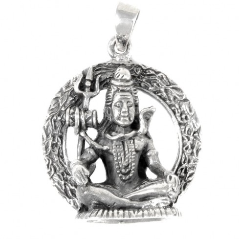 Pendentif Shiva en argent