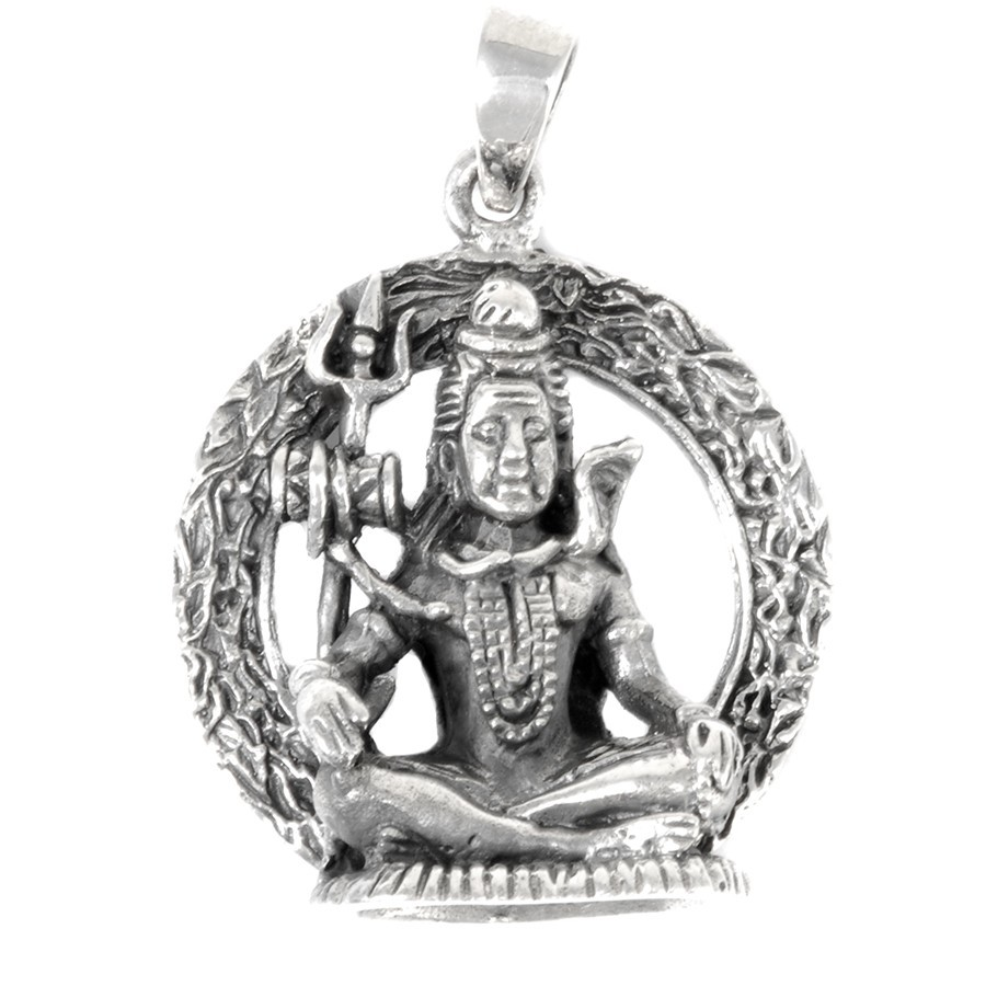 Pendentif Shiva en argent - SYMBOLES - Boutique Nirvana