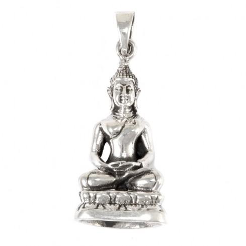 Grand pendentif Bouddha en argent - SILVER PENDANT - Boutique Nirvana