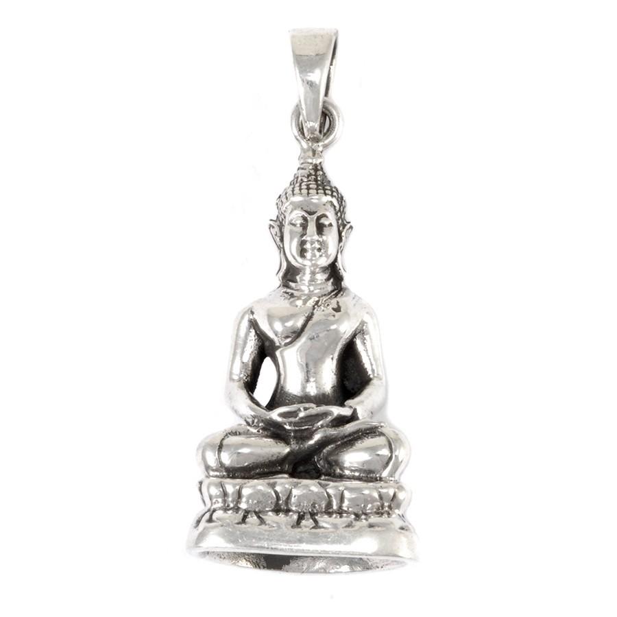 Grand pendentif Bouddha en argent