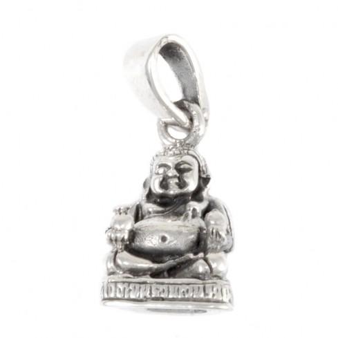 Petit pendentif Bouddha rieur en argent - SILVER PENDANT - Boutique Nirvana