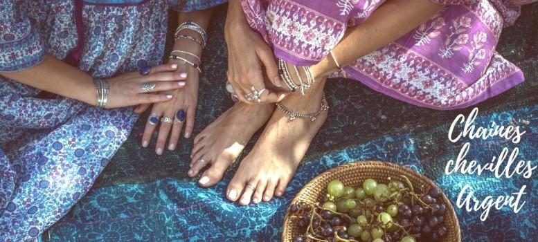 Category Silver Ankle Chain - Boutique Nirvana : Bracelet argent chaine pampilles et oeil Ste Lucie  , Chaine chevilles argen...