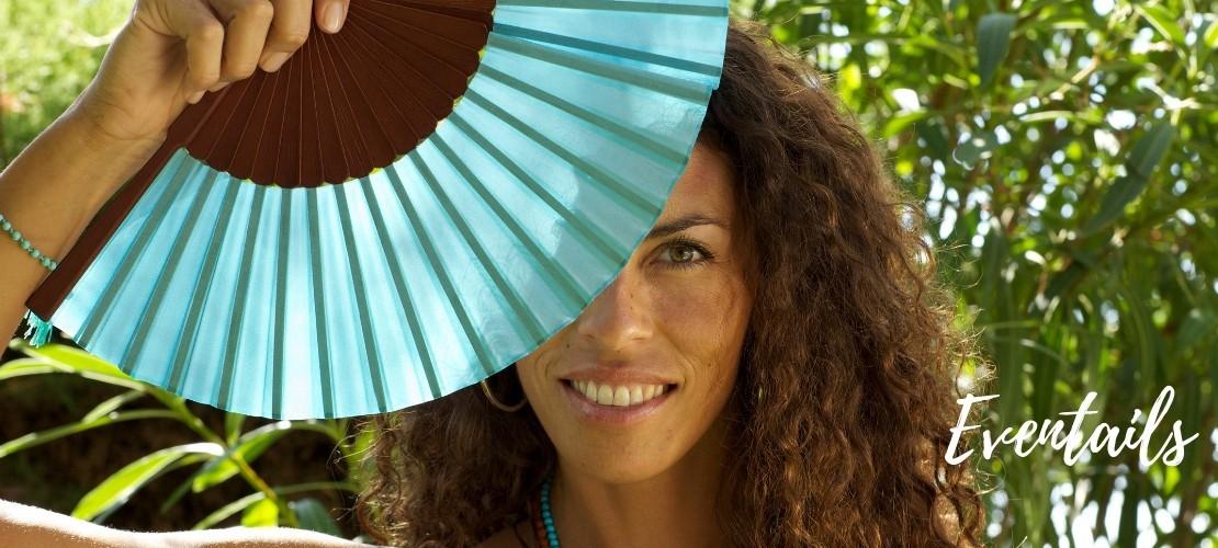 Category FANS - Boutique Nirvana : Eventails , Batik Silk fan , Plain silk fan